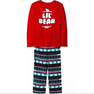 Other - Lil Bear Fair Isle Red 2 PC Pajama Set 18 Months